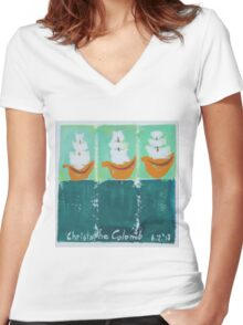 Christophe Colomb Women's Fitted V-Neck T-Shirt