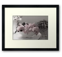 A Soft Serving Of Begonias Framed Print