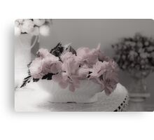 A Soft Serving Of Begonias Canvas Print