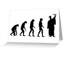 Evolved to Graduate Greeting Card