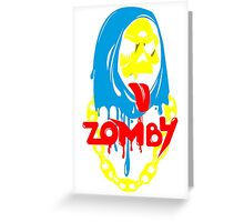 Zomby color Greeting Card