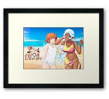 voltron beach episode Framed Print