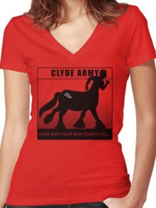 Clyde Army 2016/black Women's Fitted V-Neck T-Shirt