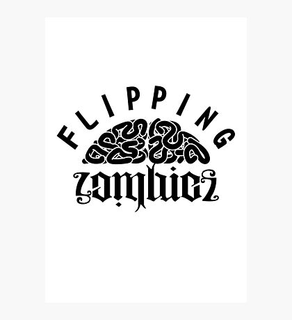 Flipping Zombies Photographic Print