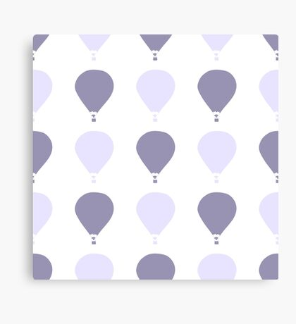 gentle seamless pattern with a silhouette of balloon cute illustration for your design Canvas Print