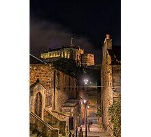 Edinburgh Castle from the Vennel Photographic Print