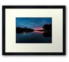 Sunrise over Waterton Lakes National Park and The Prince of Wales Hotel. Framed Print