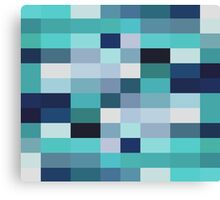 Abstraction #026 Blue White Blocks Canvas Print