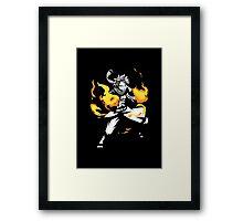 Fire Dragon Slayer Framed Print