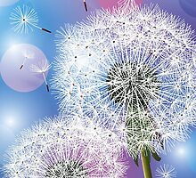 Dandelion Make A Wish  iPhone 5 Case / iPhone 4 Case  / Samsung Galaxy Cases / Duvet / Pillow / Tote Bag  by CroDesign