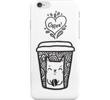 doodle coffee cat iPhone Case/Skin