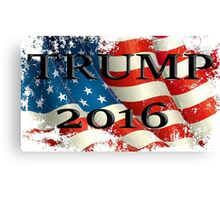 TRUMP 2016 American flag Canvas Print