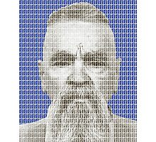 Charles Manson Mug Shot - Blue Photographic Print