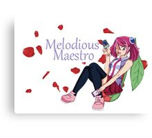 Yuzu Hiragi - Melodious Maestro Canvas Print