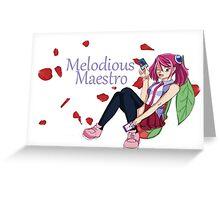 Yuzu Hiragi - Melodious Maestro Greeting Card