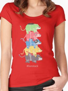 Lion Stack Women's Fitted Scoop T-Shirt