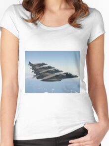 RAF Harrier 4-ship Women's Fitted Scoop T-Shirt
