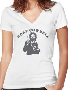 WILL FERRELL - MORE COWBELL Women's Fitted V-Neck T-Shirt