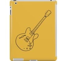 Semi-hollow guitar doodle iPad Case/Skin