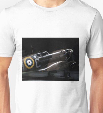 RAF Spitfire in the Hanger Unisex T-Shirt