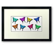 Colorful Butterfly Dragons Framed Print