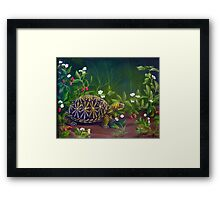Florida Box Turtle, Strawberries and Blooms Framed Print