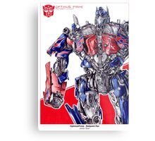 Optimus Prime - ballpoint pen Metal Print