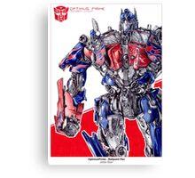 Optimus Prime - ballpoint pen Canvas Print