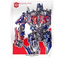 Optimus Prime - ballpoint pen Poster