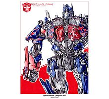 Optimus Prime - ballpoint pen Photographic Print