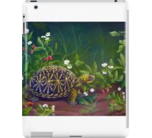 Florida Box Turtle, Strawberries and Blooms iPad Case/Skin
