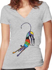 Kaleidoscope Bowdown Women's Fitted V-Neck T-Shirt