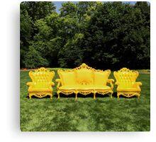 Yellow Furniture Canvas Print