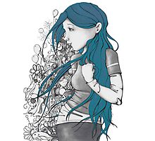 Every thought blue version Photographic Print