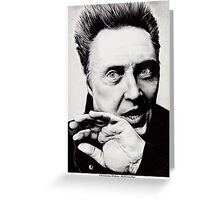Christopher Walken - Ballpoint Pen Greeting Card