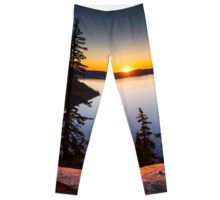 Sunrise at Crater Lake Leggings