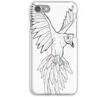 Parrot Flash Tattoo Black and White iPhone Case/Skin