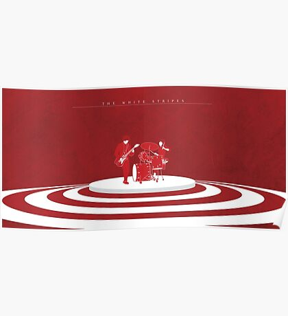 The White Stripes Wide Poster