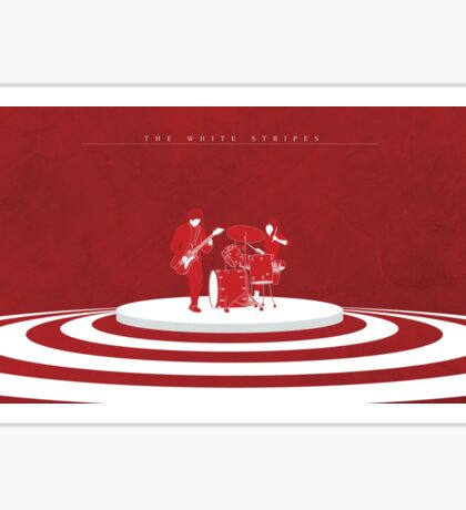 The White Stripes Wide Sticker