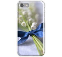 Blue silk ribbon iPhone Case/Skin