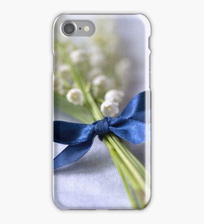 Blue silk ribbon iPhone Case/Skin