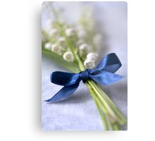 Blue silk ribbon Metal Print
