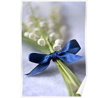 Blue silk ribbon Poster