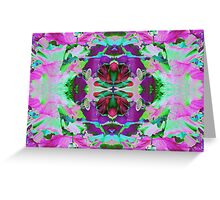 Psycho Exotic, Lotus Flower Greeting Card