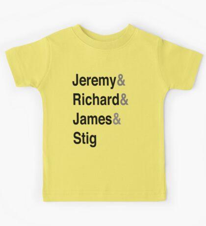 Jeremy & Richard & James & Stig Kids Tee