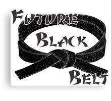 Future Black Belt Martial Arts Canvas Print