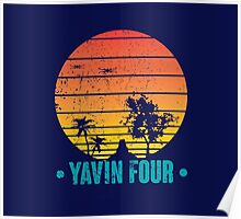 Visit Tropical Yavin Four! Poster