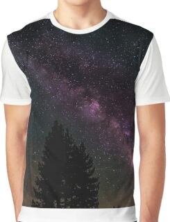 Milky way in the forest Graphic T-Shirt