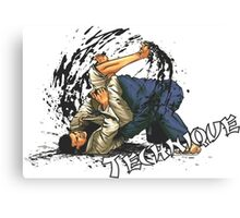 Jiu-Jitsu Bjj Martial Arts Canvas Print