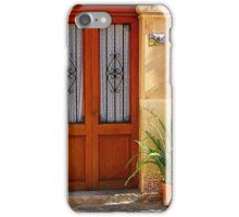 A Door With Ferns iPhone Case/Skin